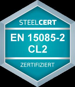Zertifizierungsstufe CL2 nach EN 15085-2 Schweißen von Schienenfahrzeugen und -fahrzeugteilen nach EN 15085-2