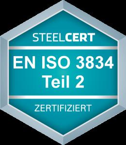 ÖNORM EN ISO 3834-2 Allgemeiner Stahlbau Komponenten für Schienenfahrzeuge